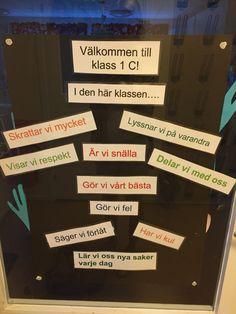 Återigen inspirerad av andra pinnare; detta är dörren in till vårt klassrum.