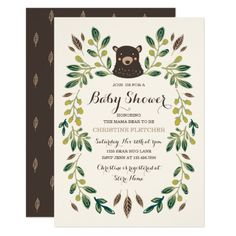 425 best bear baby shower invitations images on pinterest in 2018 bear cub baby shower invitation filmwisefo