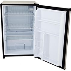 Lion 4.5 Cu. Ft. Capacity Stainless Steel Compact Refrigerator Open