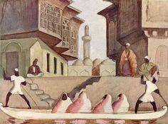 Jāzeps GROSVALDS | Latvian | Latvia 1891 – Paris, France 1920 | Post-Impressionism, Modernism.  Oriental Landscape