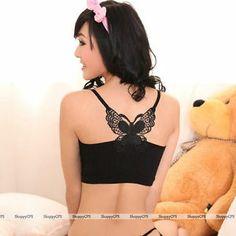 Butterfly Comfort Vest Sexy Lady Women Girls Black White Lingeries Intimates | eBay