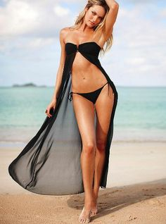 swimsuits and bikini collection 2013 - Candice Swanepoel Bikini Swimwear, Sexy Bikini, Bikini Girls, Swimsuits, Women Bikini, Look 2015, Black Tankini, Black Bandeau, Black Swimsuit