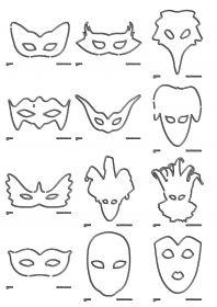Masques de carnaval Plus de 30 masques classiques à décorer, à peindre ou à colorier pour carnaval.