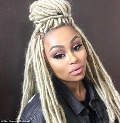 Hair today gone tomorrow: Blac Chyna, 28, looks stunning in a snapshot posted on Instagra...