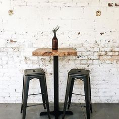 Rustic Industrial Reclaimed Wood Cafe Pub Table Bistro Table