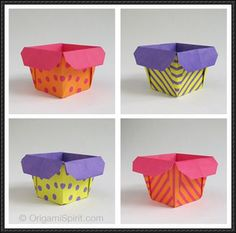 Origami tutorial and video instruction on how to fold this Origami Box. Making This Origami Box can be addictive! Box Origami, Origami Paper Folding, Origami And Kirigami, Origami Easy, Ideas Origami, Origami Tutorial, Origami Instructions, Cute Box, Paper Crafts