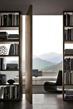 Shelving with a view