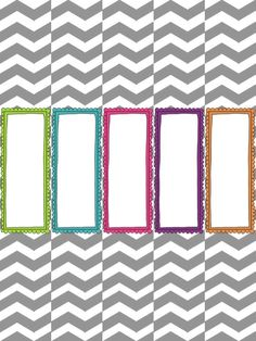 Organization freebie printable - binder cover and spine, to-do list, week at a glance, weekly schedule by hour, and a quote poster. Gray chevron with aqua blue accents design. Cute and useful!