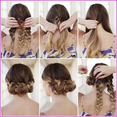 Easy Do It Yourself Hairstyles Natural Hairstyles & Haircuts 2015 easy diy hairstyles - Easy Diy Crafts Easy Braided Updo, Braided Hairstyles Tutorials, Braid Tutorials, Medium Hair Styles, Natural Hair Styles, Short Hair Styles, Updo Styles, Hairstyles Haircuts, Cool Hairstyles