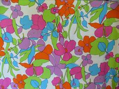 Vintage Mod Fabric Curtain Panels 2 Pieces 82 x 79 by 2nuttygirlz, $22.00