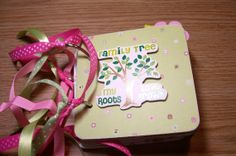 Family Tree Premade Mini Scrapbook Album by HampshireRose on Etsy, $25.00
