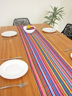 Mexican Table Runner | 7.5 Feet | Handwoven Textile | Chiapas Bazaar |  Handmade Mexican Blouses