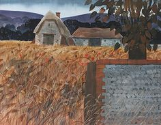 robert tavener - Google Search Landscape Paintings, Landscapes, Contemporary Printmaking, Artist Sketchbook, Sketchbooks, Farming, Cottages, Screen Printing, Mixed Media