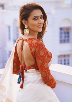 Indian Bengali film actress Mimi Chakraborty hot picture and wallpaper gallery. New hot image gallery of actress Mimi Chakraborty. Saree Blouse Neck Designs, Fancy Blouse Designs, Men's Fashion, Fashion Week, Saree Fashion, Fasion, Indian Fashion, Sari Bluse, Blouse Sexy