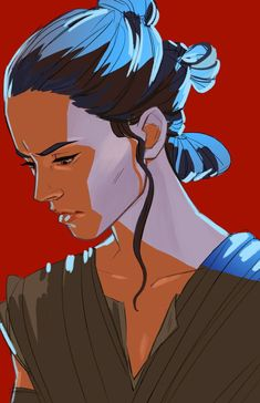 Rey | Star Wars: The Last Jedi  I sort of like the style it's in.