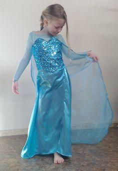 Queen Elsa Inspired Childrens Frozen Costume by SewMoochieMarie, $275.00
