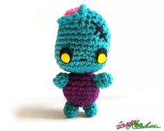 Halloween Amigurumi Crochet Pattern : Punk kitty plush pastel goth stuffed animal creepy cute doll