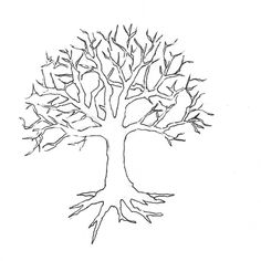 tree coloring pages with no leaves 01 Places to Visit