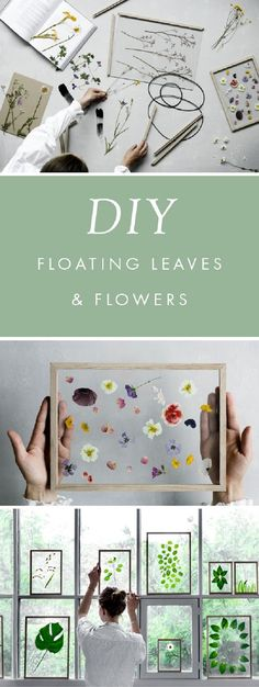Minimalist Framed Floating Leaves and Flowers – DIY Gift Idea - 15 Popular DIY Projects from Pinterest That'll Make Your Home A Better Place