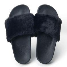 3f1a596d597a2 Fur Slides Slippers Flip Flops Shoes Women. Cute SandalsStrappy SandalsLeather  SandalsBeach ...