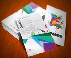 Color Explosion Business Card by kaixergroup (via Creattica)