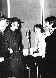 David Crosby visits during the final stages of recording for A Day in the Life.