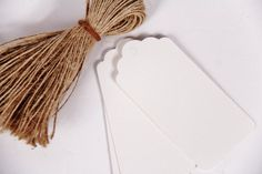 50 White Paper Tags & Twine Ties  Country by thelittlebundle, $10.00