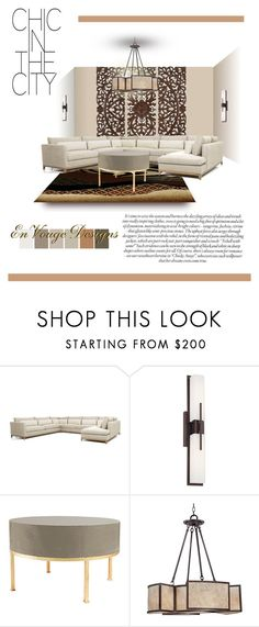"""""""Chic in the City ......"""" by jenesaisquoilifestyle ❤ liked on Polyvore featuring interior, interiors, interior design, home, home decor, interior decorating, WALL, Crate and Barrel, Possini Euro Design and Stray Dog Designs"""