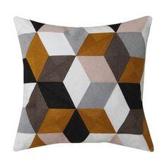 Mustard cushion by Logan & Mason