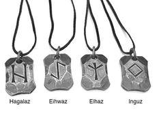 Viking Runes Rune, Rune Necklace, Talisman, Hand Forged Iron Pendant, Norse Jewelry, Viking Jewelry, Viking Necklace