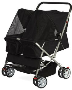 OxGord Pet Twin Cat/Dog Foldable 4-Wheel Double Stroller, 2016 Model