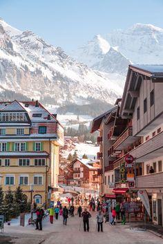 Discover Wengen Ski Resort (Switzerland) ~ Your Gateway to the Swiss Alps – Driftwood Journals Silberhorn Hotel, Wengen, Schweiz. Wengen, Switzerland ~ Snow Fun in the Swiss Alps Oh The Places You'll Go, Places To Travel, Travel Destinations, Places To Visit, Wengen Switzerland, Swiss Switzerland, Hallstatt, Go Skiing, Skiing Colorado