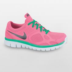 Lace up in I-love-pink #Nike shoes. #fitness #Kohls