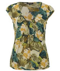 Rosie Tee Tropical Floral Print from Emily & Fin Tunics, Floral Prints, Tropical, Tunic Tops, Tees, Women, Fashion, Moda, Robe