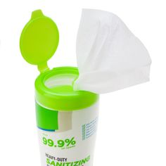 Our heavy-duty sanitizing wipes clean and deodorize by killing 99.9% of germs, bacteria and fungus in just seconds leaving behind a fresh lemon scent. And they're safe on hands! Fitness Accessories, Workout Accessories, Alcohol Free, Canisters, Fungi, Deodorant, Cleaning Wipes, Lemon, Hands