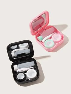 Shop Solid Contact Lens Case Set at ROMWE, discover more fashion styles online. Portable Shower Head, Frozen Headband, Essie Nail Polish Colors, Oil Free Makeup, Crossbody Bags For Travel, Fashion Eye Glasses, Rose Gold Watches, Contact Lens, Pearls
