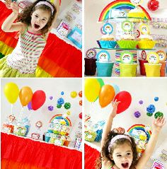 I NEED these printables for our rainbow party!