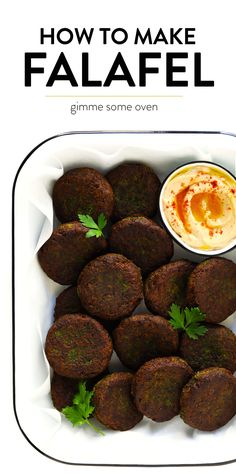Learn how to make falafel with this easy homemade falafel recipe! It's bursting with zesty fresh fresh flavors, lightly pan-fried (instead of deep-fried), and perfect for falafel wraps, salads, sandwiches and more. Vegetarian Recipes, Cooking Recipes, Healthy Recipes, Easy Recipes, Vegetarian Meatballs, Greek Recipes, Summer Recipes, Healthy Foods, Best Falafel Recipe