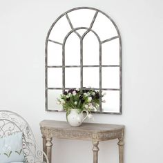 arched window mirror by decorative mirrors online | notonthehighstreet.com