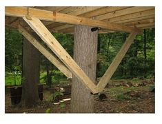 These brackets connect Treehouse Attachment Bolts to wooden knee braces. These brackets connect Treehouse Attachment Bolts to wooden knee braces. Beautiful Tree Houses, Cool Tree Houses, Treehouse Supplies, Tree House Plans, Diy Tree House, Building A Treehouse, Treehouse Kids, Tree House Designs, Unique Trees