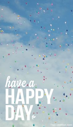 Have a happy day! Pass it on  #Happiest5K #TheColorRun