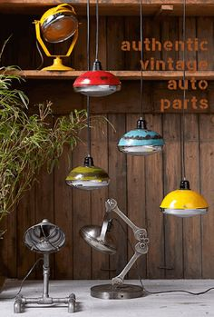 Urban Vintage Vespa Pendant Lighting that are headsets round lights for ceilings for the home and bars in a cool quirky design red, green reclaimed lamps British made Vintage Industrial Lighting, Industrial Pendant Lights, Pendant Lighting, Ceiling Pendant, Ceiling Lights, Pendant Lamps, Pendants, Restaurant Lighting, Lighting Companies