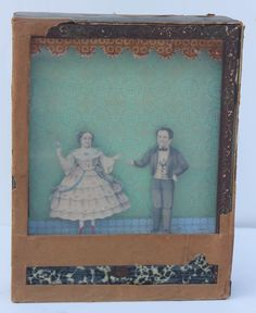 antique German dancing couple sand toy