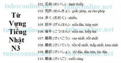 Từ vựng N3 sách mimi kara oboeru 32 - Tự học tiếng Nhật online