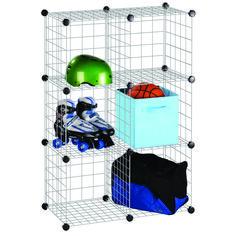 Honey-Can-Do International - 6 Pack Modular Mesh Storage Cube, Silver - - Home Depot Canada Cube Storage Unit, Cube Unit, Modular Storage, Cube Shelves, Storage Sets, Storage Organization, Storage Cubes, Smart Storage, Dorm Room Storage