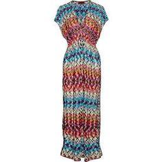 Missoni Bolivar Crochet-Knit Maxi Kaftan as seen on Irina Shayk