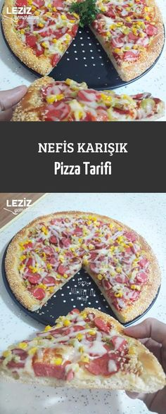 Nefis Karışık Pizza Tarifi Yummy Food, Tasty, Recipe Of The Day, Pizza Recipes, Seafood, Food And Drink, Bread, Ethnic Recipes, Sea Food