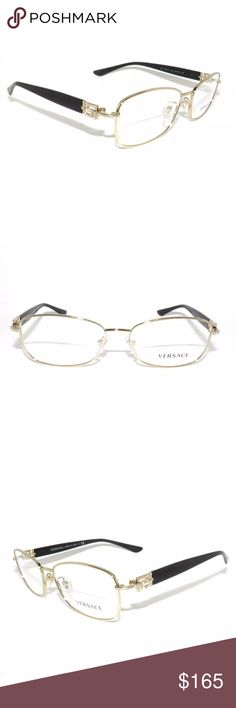 7f2e049fa4c Versace Eyeglasses 1226 Gold and Black Frame New with clear lens Comes with  Versace case.