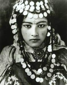 Amazigh woman with elaborate jewelry