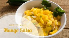In this video, Aviva Goldfarb shows you how to cut a mango to make mango salsa or enjoy as a snack, plus an easy recipe for making crispy baked tortilla chip. Healthy Dips, Healthy Family Meals, Healthy Eating, Healthy Recipes, Family Recipes, Clean Eating Recipes, Lunch Recipes, Real Food Recipes, Cooking Recipes